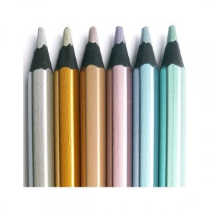 Jumbo Blackwood Metallic Pencils 6 Pk