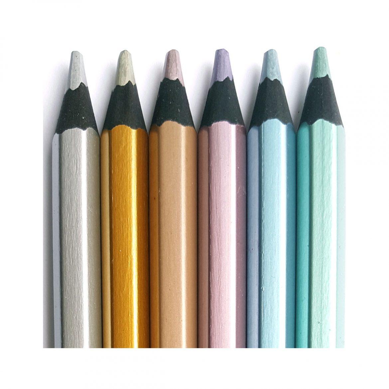 Jumbo Blackwood Metallic Pencils 6 Pk