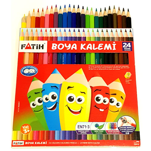 Colouring Pencils Full size 24 Colours