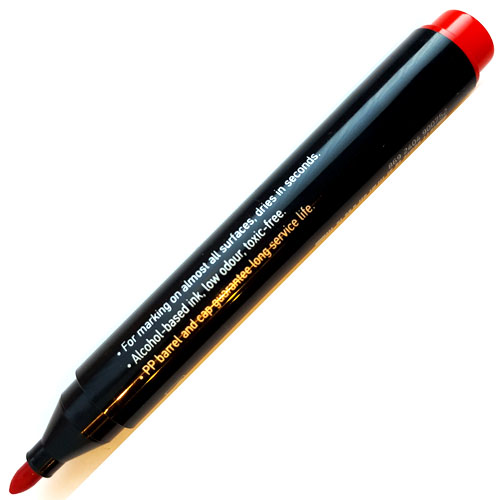 Permanent Markers Red 10 Pack | Good Quality