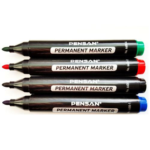 title permanent marker pens set of 4. Black Bedroom Furniture Sets. Home Design Ideas