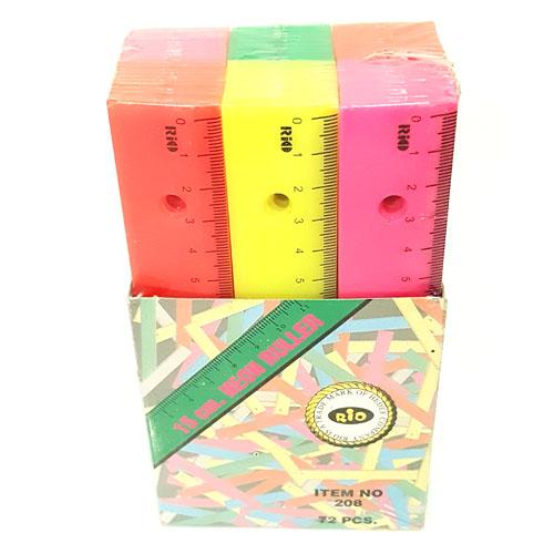 Plastic Ruler Neon 15cm Pack of 3