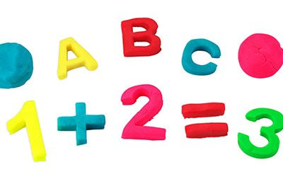 Playdough Letters & Numbers